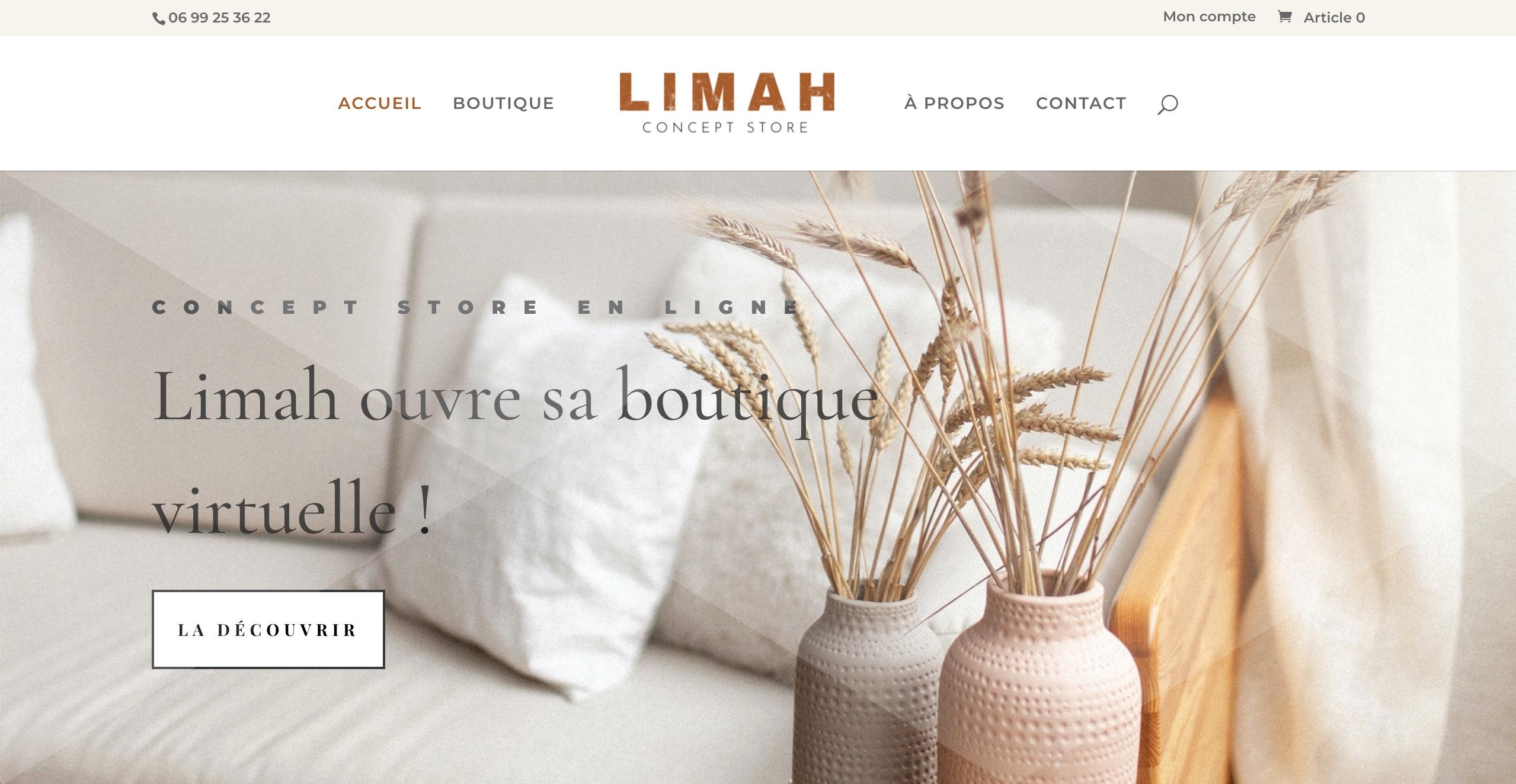 Site Internet Limah | Concept Store à Pouillon dans les Landes