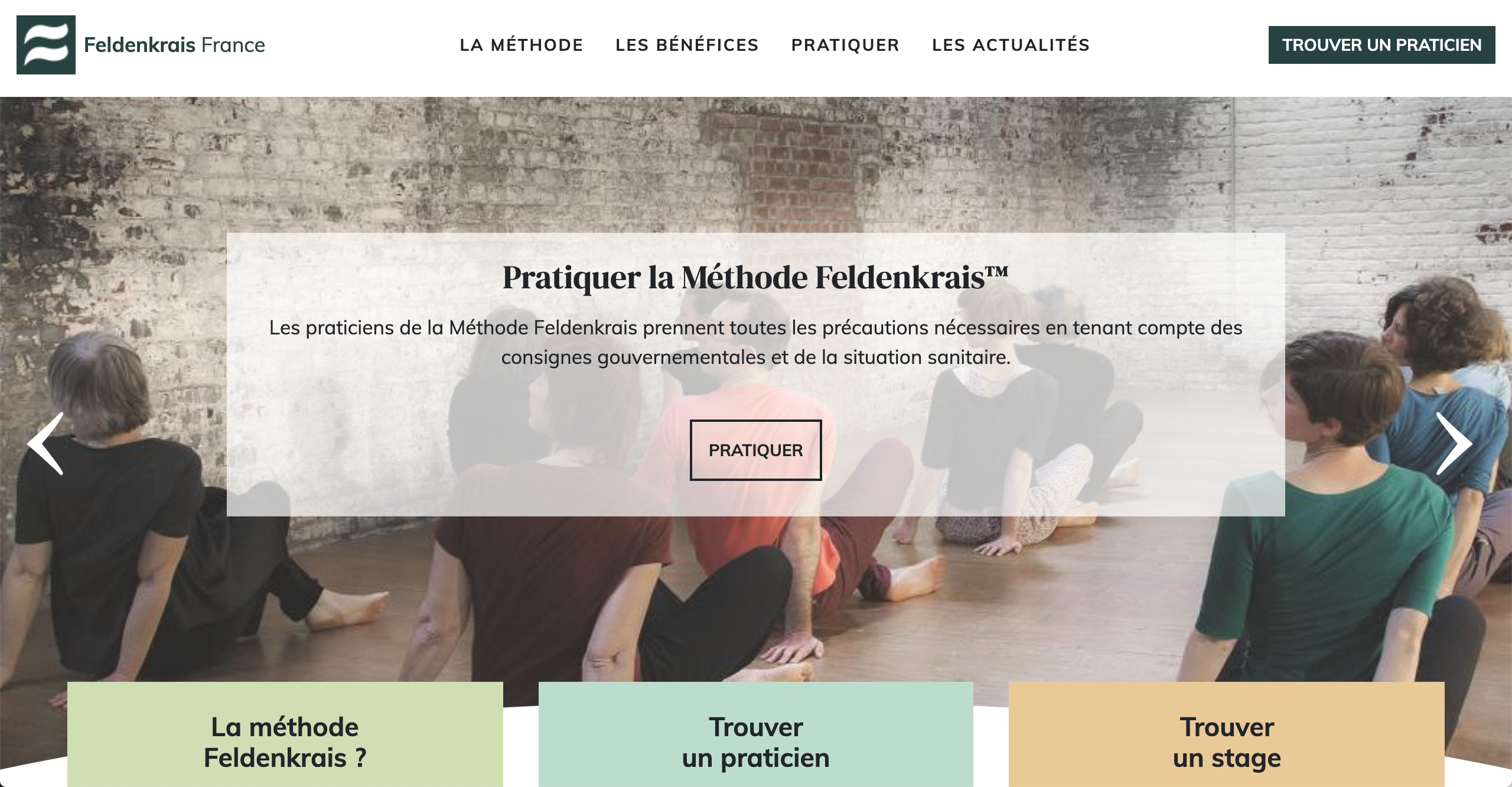 Site de l'association Feldenkrais France